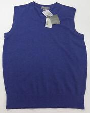 Men's DANIEL CREMIEUX Blue Sweater Vest SUPIMA COTTON Small S NEW NWT