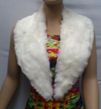 FASHION FAUX FUR COLLAR : PRE CUT AND FULLY LINED : CREAM : #T549AC -