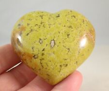 56MM Wide GREEN OPAL HEART - MADAGASCAR