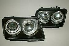 1991 - 1994 Audi 100 C4 Clear Black Headlights LED Projectors Left + Right Side