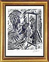 """Pablo Picasso Hand Signed Ltd Edition Print """"The Artist"""" with COA (unframed)"""
