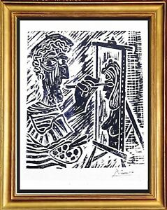 "Pablo Picasso Hand Signed Ltd Edition Print ""The Artist"" with COA (unframed)"
