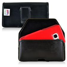 Turtleback Galaxy S7 Edge Leather Holster Case Black Belt Clip Fits Otterbox