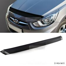 Front Black Bonnet Hood Guard Garnish For HYUNDAI 2011-2016 Solaris Accent Verna