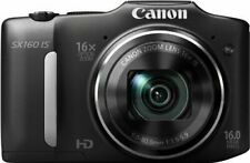 Canon PowerShot SX160 IS 16 Megapixel Digital Camera - Black