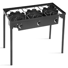 3 Burner Propane Gas Stove 225000-BTU Outdoor BBQ Cooker Camp Stove