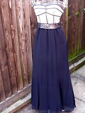 Coast Silk Strapless Evening Dress Sz 10 Prom Cruise Cocktails Black Chic