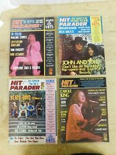 Lot of 12 1972 Hit Parader Magazine Full Year Run