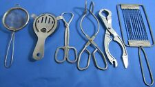 Lot of 6 vintage rustic kitchen tools utensils -