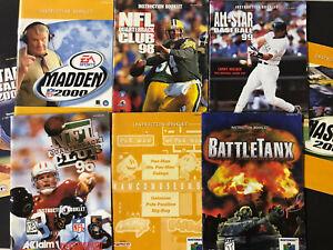Lot Of 8 ( Nintendo 64 ) Authentic Manuals - No Games - N64 Booklets Classic Fun