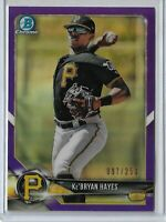 2018 Bowman Draft Chrome Purple refractor parallel Ke'Bryan Hayes 097/250 SP