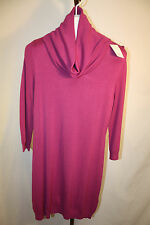 H&M Womens Ladies Pink Cowl Neck Sweater Dress Size Large