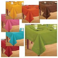 4 Seater Dinner Party Table Linen Kitchen Dining Tablecloth Cover Cotton Napkins