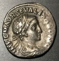 ANCIENT ROMAN SILVER DENARIUS-SEVERUS ALEXANDER 222-235 A.D. - SCARCE