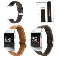 Leather Genuine Watch Band Strap Replacement Wristband for Fitbit ionic Bracelet