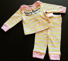 Juicy Couture Baby Girls Yellow/Pink I Heart California Pajama Set (0-3M) NWT