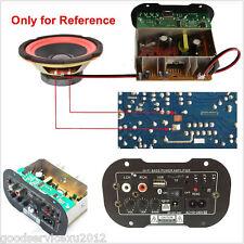 12V/24V/110V/220V 30W High Power Vehicles Subwoofer Bass Hi-Fi Amplifier TF USB