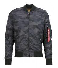 Alpha Industrie hombre chaqueta de verano ma-1 TT Negro Camuflaje