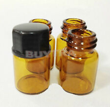 Best 12 x 2 ml(5/8 dram) Amber Glass Bottle Essential Oil Bottle Orifice&Cap Pop
