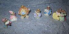 Hallmark Merry Miniatures Lot of 6 Cinderella Collection 1995