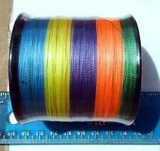 550yds (500m) SUPERLINE 50lb test MULTICOLOR Braid Fishing Line,Durable, Strong,