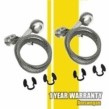 2x Hood Stay Restraint Cable Pair For Peterbilt 357 367 375 377 378 379 924-5402