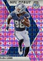 2020 Panini Mosaic NFL Debut Camo Pink Prizm CeeDee Lamb #268 Rookie