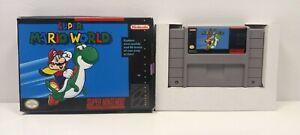 SNES Super Mario World + Repro Box Authentic Tested Nintendo Game