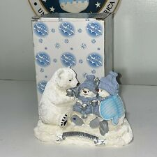 Collectible Snow Buddies 'Polar Tea Party' Figures Snowmen 1999 Retired