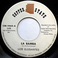 LOS ELEGANTES 45 La Bamba / Lonely Street LATIN Richie Valens COPPER STATE e1417