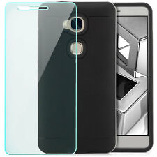 Coque Silicone Huawei Honor 5X Housse Back Cover Case anti-choc + Verre Trempé
