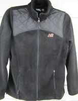 New Balance Women's Black Fleece Full Zip Jacket Long Sleeve Size M -M805