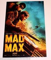 MAD MAX: FURY ROAD GEORGE MILLER NICHOLAS HOULT SIGNED 12X18 MOVIE POSTER B COA
