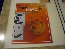 New ! Halloween Pumpkin Carving Stencil Book - Spritz, Multi-Colored
