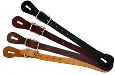Showman Adult Size Economy Basic Leather Western Spur Straps