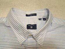 Gant Windward Poplin Stripe Shirt with Hidden Button Down Collar NWT XXL $125
