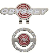 ODYSSEY Japan Golf Ball Marker Clip 5917101 White Red