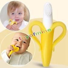 Soft Toothbrush Training Teething Banana Brush for Baby Kids Toddler