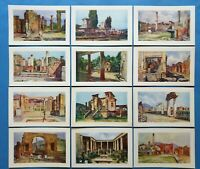 Beautiful Set of 12 Vintage Italian Art Postcards, The Ruins of Pompei 77V