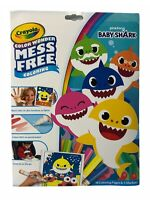 Crayola Color Wonder Mess Free Coloring Baby Shark -18 Pages & 5 Markers-NEW