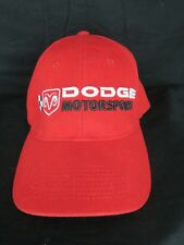 Nascar Dodge Motorsports Red Adult Hat Cap OSFA