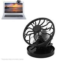 Clip-on Solar Cell Fan Sun Power energy Panel Cooling /USB Cooler Desk Mini JL