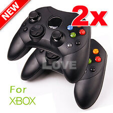 2x Dual Shock Gamepad Wired Game Controller Joypad for PC Microsoft XBOX Black