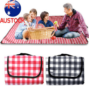 200X200cm Large Picnic Blanket Premium Cashmere RED Rug Waterproof Mat Outdoor