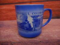 Vintage Colorado Souvenir Pikes Peak Cup Mug Central City Durango Silverton