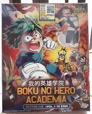 Anime DVD: My Hero Academia Season 1+2 (1-38 End)_ENG DUB & Sub_R0_FREE SHIPPING