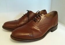 mens size 9 Samuel Windsor Handmade brown leather lace up brogues oxford classic