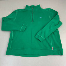 Tommy Bahama Relax Quarter Zip Jacket Mens XXL Green Long Sleeve Casual