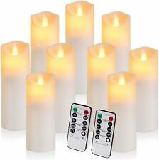 Flickering Flameless Candles Battery Operated Candles Exquisite Frosted Plastic