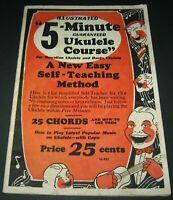 Vintage Illustrated 5-Minute Guaranteed Ukulele Course (1952) Teaching Course